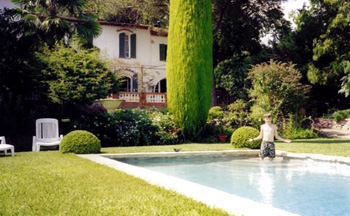 Patrick on house exchange in Grasse, 2000
