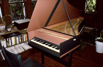 Harpsichord completed by John in 1982